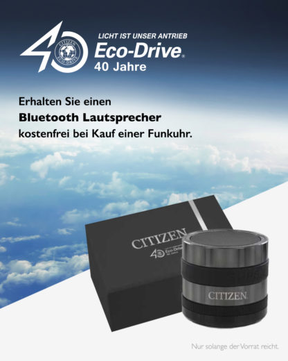 Funkuhr Eco Drive AS4025-08E CITIZEN schwarz 4974374217523