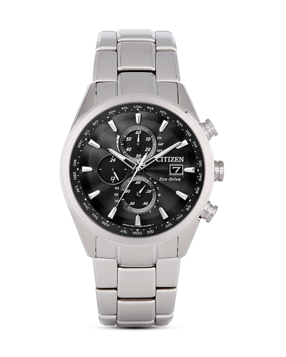 Funksolaruhr Eco-Drive Elegant AT8011-55E CITIZEN schwarz,silber 4974374228253