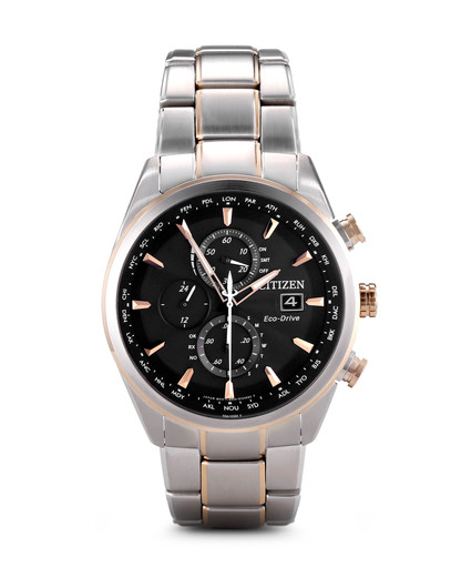 Funkuhr Eco-Drive AT8017-59E CITIZEN grau,silber 4974374233493