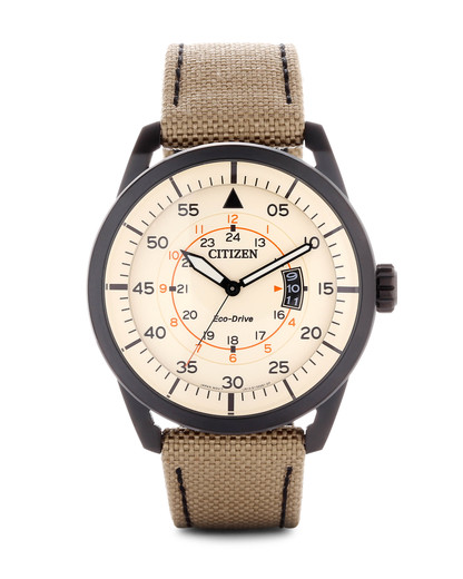 Solaruhr Eco Drive AW1365-19P CITIZEN beige,silber 4974374235961