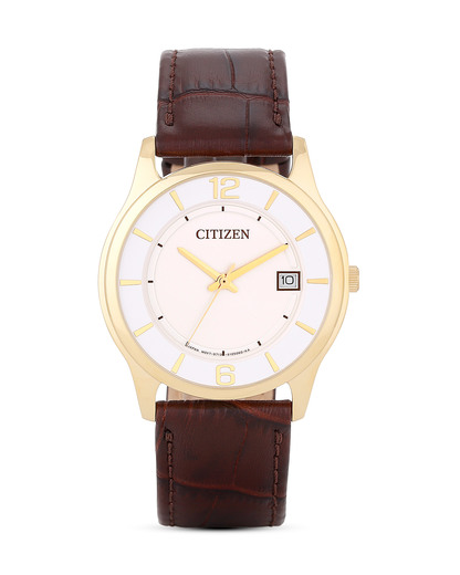 Quarzuhr Basic BD0022-08A CITIZEN braun,gold,weiß 4974374212825