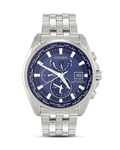 Funksolaruhr Eco-Drive Elegant AT9030-55L CITIZEN blau,silber 4974374237828