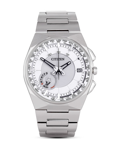 Funkuhr Eco Drive SATELLITE WAVE CC2001-57A CITIZEN silber 4974374243638