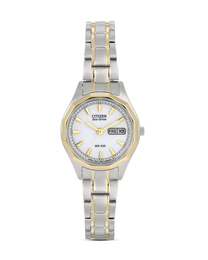 Solaruhr Eco-Drive Sports EW3144-51AE CITIZEN gold,silber,weiß 4974374190871