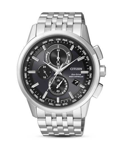 Funksolaruhr Eco-Drive Elegant AT8110-61E CITIZEN schwarz,silber 4974374249944