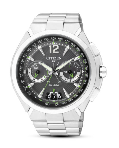 Funksolaruhr Eco-Drive Satellite Wave Air CC1090-52F CITIZEN schwarz,silber 4974374242907