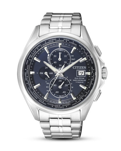 Funkuhrsolaruhr Eco-Drive AT8130-56L CITIZEN blau,silber 4974374262769