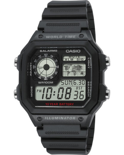Digitaluhr AE-1200WH-1AVEF CASIO Herren Resin 4971850968740