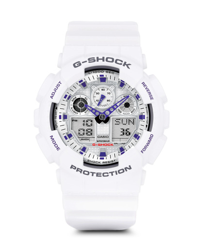 Digitaluhr GA-100A-7AER G-SHOCK weiß 4971850443780