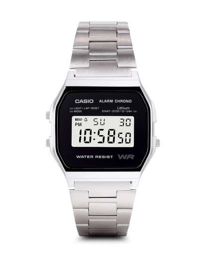 Digitaluhr Retro Collection A158WEA-1EF CASIO schwarz,silber 4971850944386