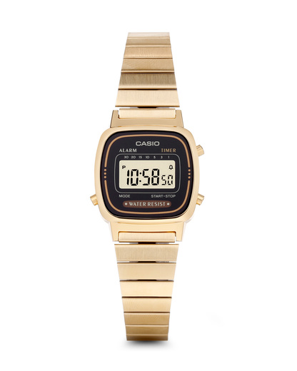 Digitaluhr Retro Collection LA670WEGA-1EF CASIO gold,schwarz 4971850935124