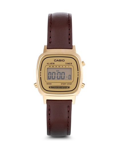 Digitaluhr LA670WEGL-9EF CASIO braun,gold 4971850977698