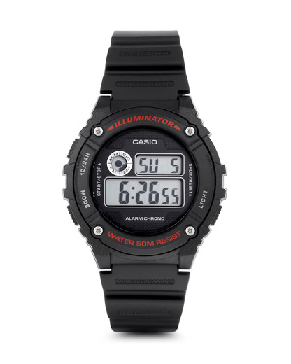Digitaluhr W-216H-1AVEF CASIO schwarz 4971850999027