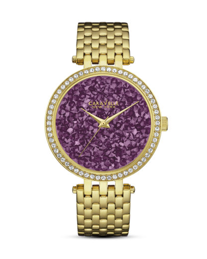 Quarzuhr 44L212 CARAVELLE NEW YORK gold,violett,weiß 7613077534465