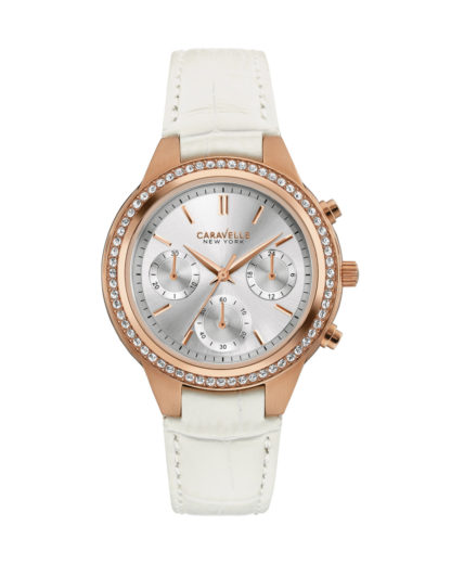Chronograph Two Tone Perfection 44L214 CARAVELLE NEW YORK roségold,silber,weiß 7613077538500