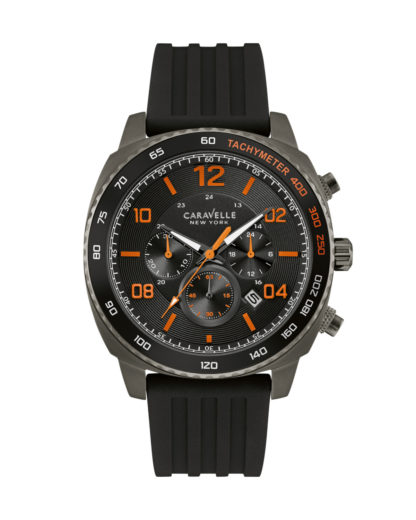 Chronograph 45B141 CARAVELLE NEW YORK grau,orange,schwarz 7613077538807