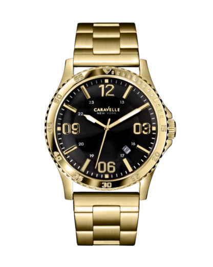 Quarzuhr 44B104 CARAVELLE NEW YORK gold,schwarz 7613077507247