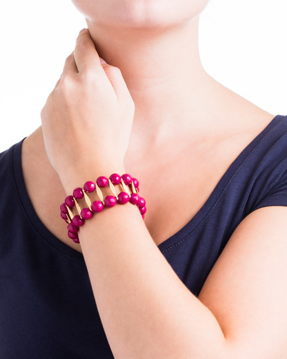 Armband Messing David Aubrey gold,pink Jade 4250945500646