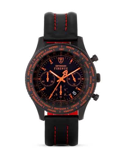 Chronograph FIRENZE SL1624C-BO DETOMASO orange,schwarz 4260300445307