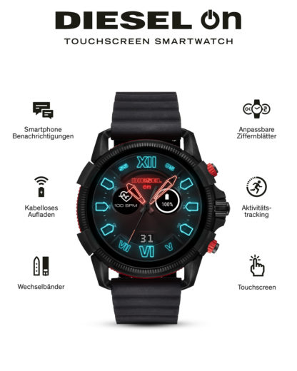 Smartwatch Full Guard 2.5 DZT2010 DIESEL ON rot,schwarz 4013496057140
