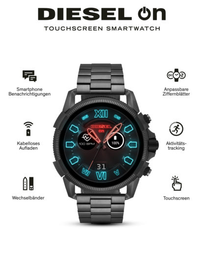 Smartwatch Full Guard 2.5 DZT2011 DIESEL ON grau,schwarz 4013496057133