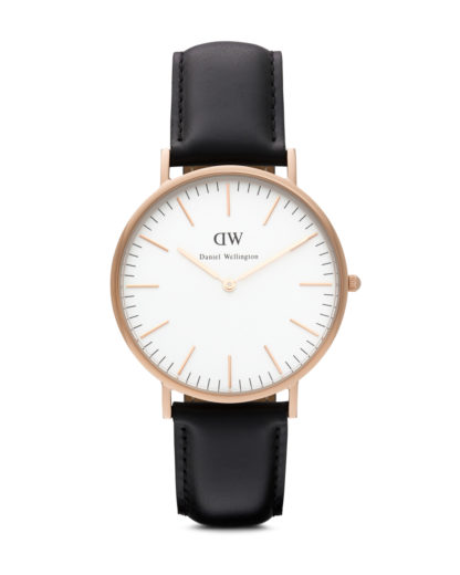 Quarzuhr Sheffield 0107DW Daniel Wellington Schwarz 7350068240072