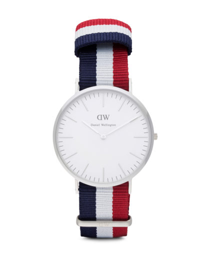 Quarzuhr Cambridge 0203DW Daniel Wellington blau,silber,weiß 7350068240119