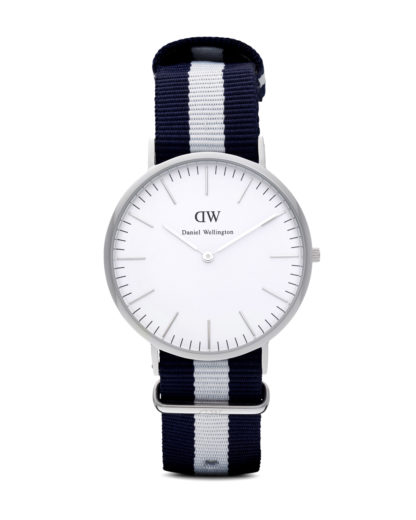 Quarzuhr Glasgow 0204DW Daniel Wellington Blau 7350068240126