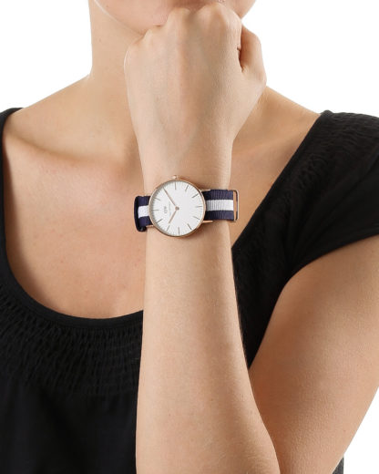 Quarzuhr Glasgow 0503DW Daniel Wellington Damen Stoff 7350068240355