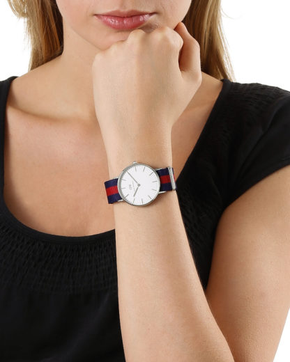 Quarzuhr Oxford 0601DW Daniel Wellington Damen Stoff 7350068240423