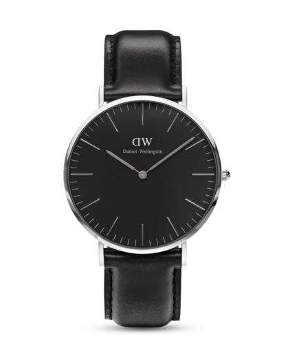 Quarzuhr Classic Black Sheffield DW00100133 Daniel Wellington Schwarz 7350068244629