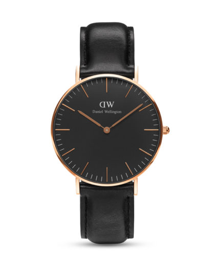 Quarzuhr Classic Black Sheffield DW00100139 Daniel Wellington Schwarz 7350068244681