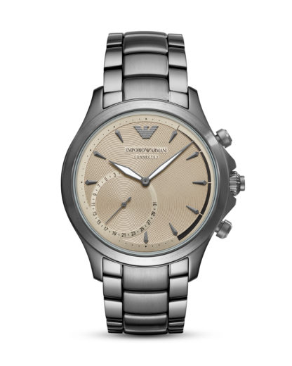 Hybrid-Smartwatch ART3017 EMPORIO ARMANI CONNECTED beige,grau 4053858984806