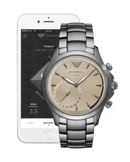 Hybrid-Smartwatch ART3017 EMPORIO ARMANI CONNECTED Herren Edelstahl 4053858984806