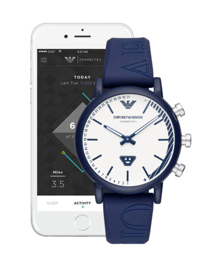 Hybrid-Smartwatch ART3023 EMPORIO ARMANI CONNECTED Herren Silikon 4051432353857