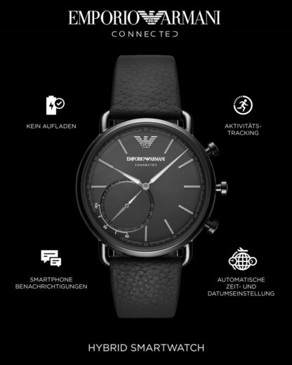 Hybrid-Smartwatch ART3030 EMPORIO ARMANI CONNECTED schwarz 4053858931022