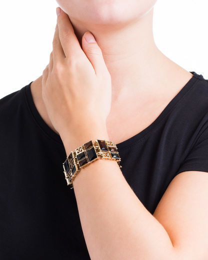Armband Messing ESCADA gold Glas 7640152793714