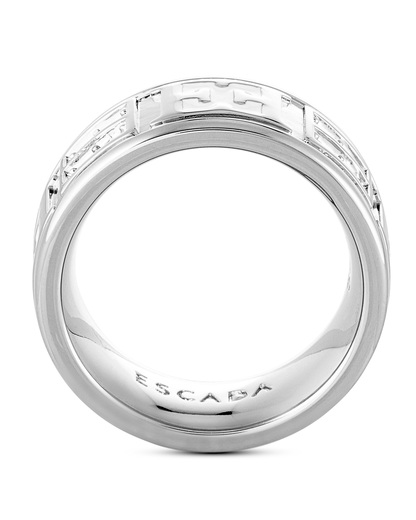 Ring Messing rhodiniert ESCADA silber Swarovski-Stein