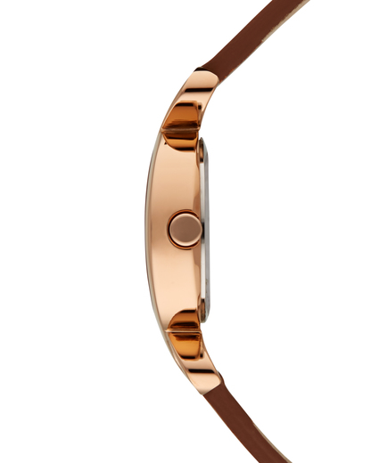 Quarzuhr Time Fontana Soft Rose Gold ES106272007 Esprit Damen Leder 4891945166328