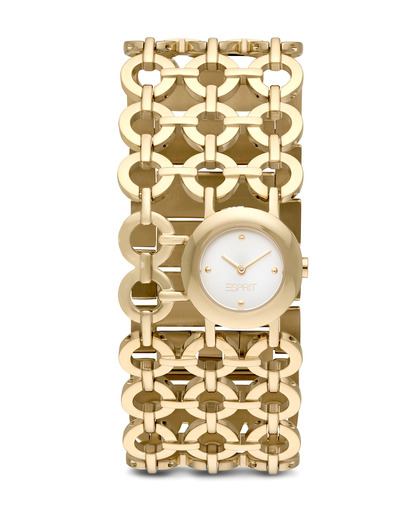 Quarzuhr Time Etiquette Pure Gold ES105872003 Esprit gold,silber 4891945159948