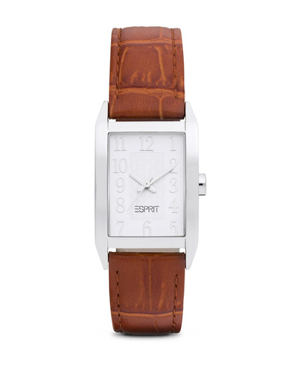 Quarzuhr Time Fundamental White Brown ES000EO2008 Esprit braun,silber 4891945149901
