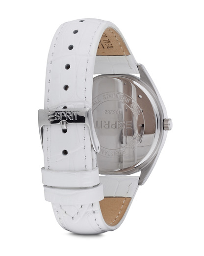 Quarzuhr Time Glandora White ES106262002 Esprit Damen Leder 4891945166182