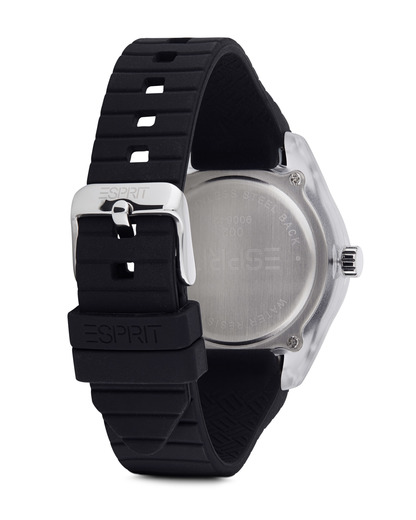 Quarzuhr Time Black Play ES900642002 Esprit Damen Silikon 4891945129293
