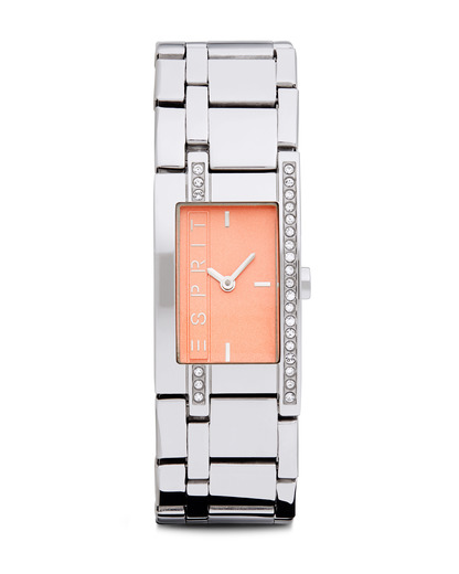 Quarzuhr Time Houston Light Orange ES000M02111 Esprit orange,silber 4891945162313