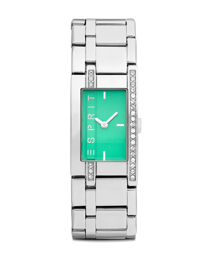 Quarzuhr Time Houston Emerald ES000M02119 Esprit grün,silber 4891945162399