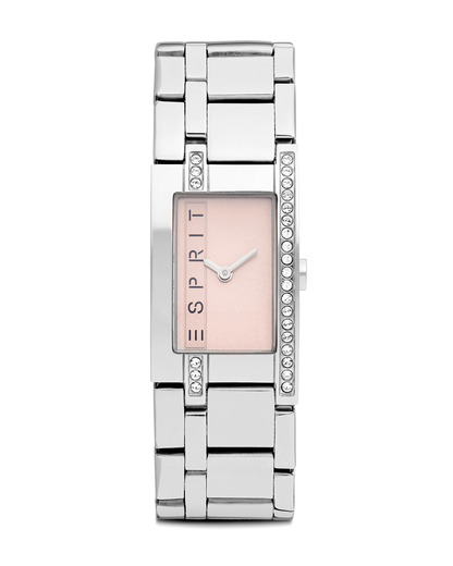 Quarzuhr Time Rose Houston ES000M02819 Esprit rosa,silber 4891945044602