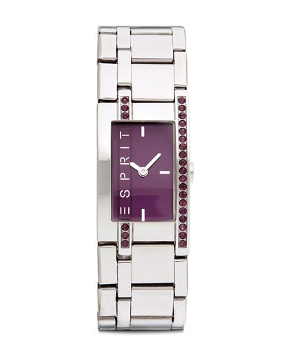 Quarzuhr Time Houston Burgundy ES000M02116 Esprit silber,violett 4891945162368