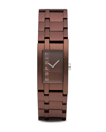 Quarzuhr Time Houston Aluminum Brown ES105892009 Esprit braun 4891945161125