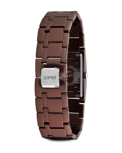 Quarzuhr Time Houston Aluminum Brown ES105892009 Esprit Damen Metall 4891945161125