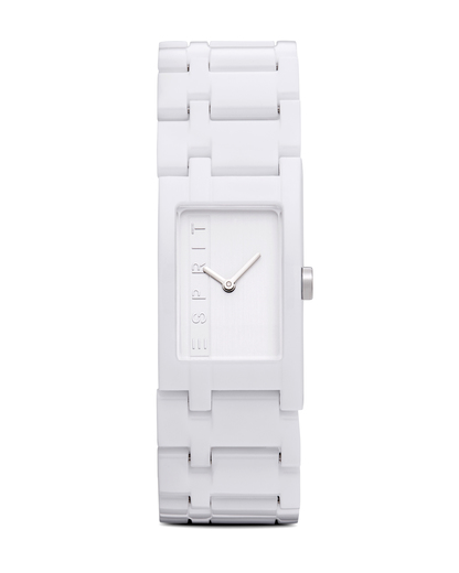 Quarzuhr Time Houston Funky Pure White ES103362002 Esprit weiß 4891945126308